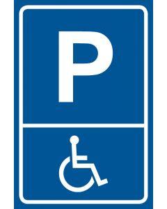 Parkschild Behindertenparkplatz · Aufkleber | Schild | Magnetschild