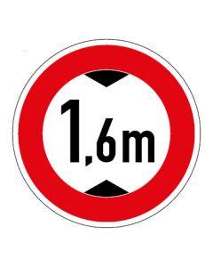 Verkehrszeichen Durchfahrtshöhe max. 1,6 m · Aufkleber   Schild   Magnetschild