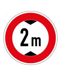 Verkehrszeichen Durchfahrtshöhe max. 2 m · Aufkleber   Schild   Magnetschild