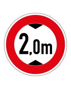 Verkehrszeichen Durchfahrtshöhe max. 2,0 m · Aufkleber   Schild   Magnetschild