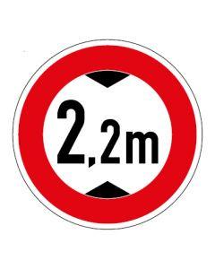 Verkehrszeichen Durchfahrtshöhe max. 2,2 m · Aufkleber   Schild   Magnetschild