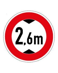 Verkehrszeichen Durchfahrtshöhe max. 2,6 m · Aufkleber   Schild   Magnetschild