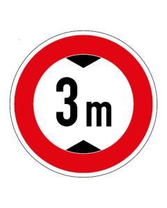 Verkehrszeichen Durchfahrtshöhe max. 3 m · Aufkleber   Schild   Magnetschild