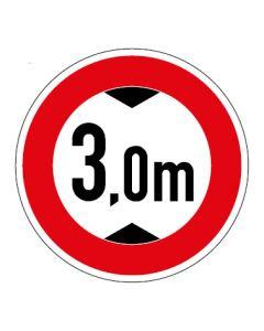 Verkehrszeichen Durchfahrtshöhe max. 3,0 m · Aufkleber   Schild   Magnetschild