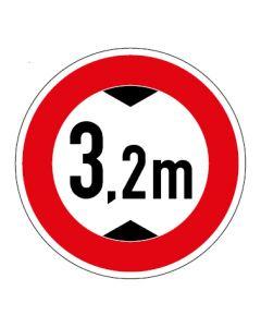 Verkehrszeichen Durchfahrtshöhe max. 3,2 m · Aufkleber   Schild   Magnetschild