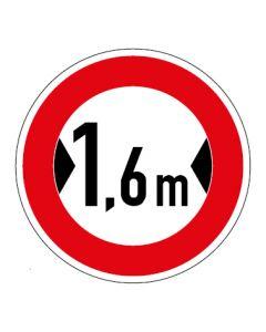 Verkehrszeichen Durchfahrtsbreite max. 1,6 m · Aufkleber | Schild | Magnetschild