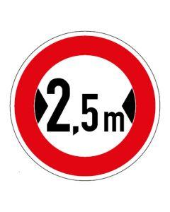 Verkehrszeichen Durchfahrtsbreite max. 2,5 m · Aufkleber | Schild | Magnetschild