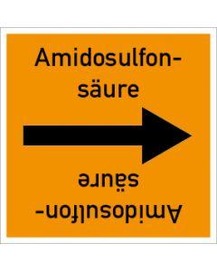 Rohrleitungskennzeichnung viereckig Amidosulfonsäure | Aufkleber · Magnetschild · Aluminiumschild