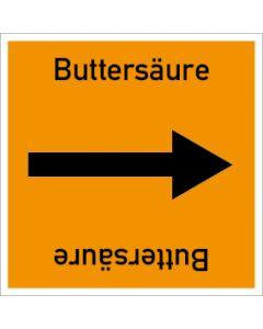 Rohrleitungskennzeichnung viereckig Buttersäure | Aufkleber · Magnetschild · Aluminiumschild