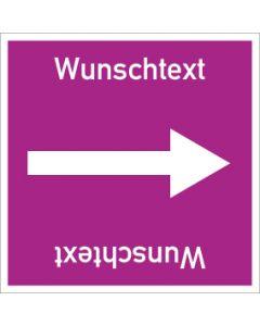 Rohrleitungskennzeichnung viereckig Wunschtext   Aufkleber · Magnetschild · Aluminiumschild