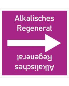 Rohrleitungskennzeichnung viereckig Alkalisches Regenerat   Aufkleber · Magnetschild · Aluminiumschild
