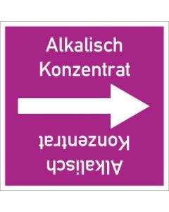 Rohrleitungskennzeichnung viereckig Alkalisch Konzentrat   Aufkleber · Magnetschild · Aluminiumschild