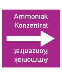 Rohrleitungskennzeichnung viereckig Ammoniak Konzentrat   Aufkleber · Magnetschild · Aluminiumschild