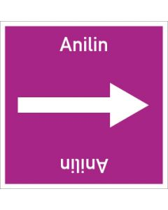 Rohrleitungskennzeichnung viereckig Anilin   Aufkleber · Magnetschild · Aluminiumschild