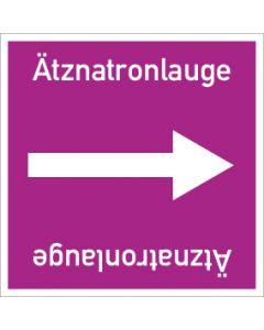 Rohrleitungskennzeichnung viereckig Ätznatronlauge   Aufkleber · Magnetschild · Aluminiumschild
