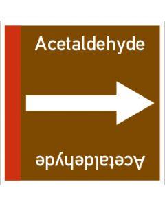 Rohrleitungskennzeichnung viereckig Acetaldehyde | Aufkleber · Magnetschild · Aluminiumschild