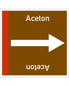 Rohrleitungskennzeichnung viereckig Aceton | Aufkleber · Magnetschild · Aluminiumschild