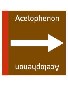 Rohrleitungskennzeichnung viereckig Acetophenon | Aufkleber · Magnetschild · Aluminiumschild