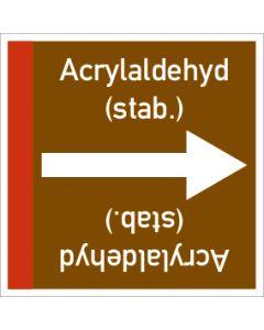 Rohrleitungskennzeichnung viereckig Acrylaldehyd (stab.) | Aufkleber · Magnetschild · Aluminiumschild