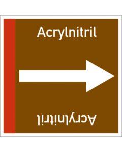 Rohrleitungskennzeichnung viereckig Acrylnitril | Aufkleber · Magnetschild · Aluminiumschild