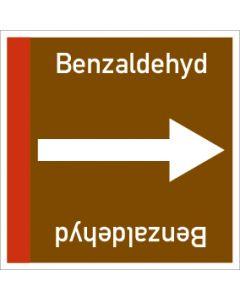 Rohrleitungskennzeichnung viereckig Benzaldehyd | Aufkleber · Magnetschild · Aluminiumschild