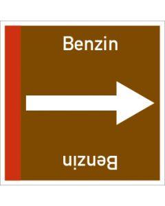 Rohrleitungskennzeichnung viereckig Benzin | Aufkleber · Magnetschild · Aluminiumschild
