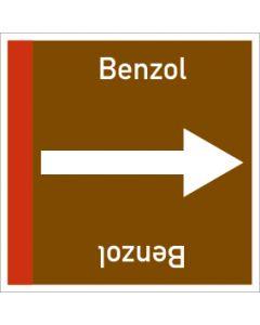 Rohrleitungskennzeichnung viereckig Benzol | Aufkleber · Magnetschild · Aluminiumschild