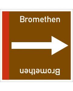 Rohrleitungskennzeichnung viereckig Bromethen | Aufkleber · Magnetschild · Aluminiumschild