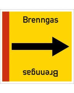 Rohrleitungskennzeichnung viereckig Brenngas | Aufkleber · Magnetschild · Aluminiumschild