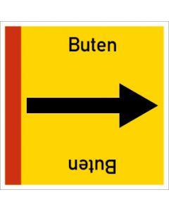Rohrleitungskennzeichnung viereckig Buten | Aufkleber · Magnetschild · Aluminiumschild