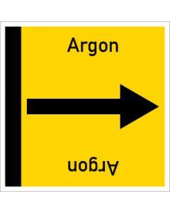 Rohrleitungskennzeichnung viereckig Argon | Aufkleber · Magnetschild · Aluminiumschild