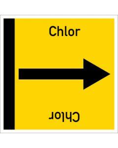 Rohrleitungskennzeichnung viereckig Chlor | Aufkleber · Magnetschild · Aluminiumschild