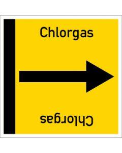 Rohrleitungskennzeichnung viereckig Chlorgas | Aufkleber · Magnetschild · Aluminiumschild