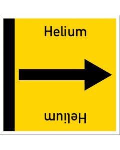 Rohrleitungskennzeichnung viereckig Helium | Aufkleber · Magnetschild · Aluminiumschild
