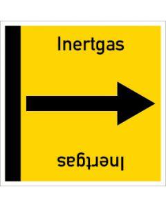 Rohrleitungskennzeichnung viereckig Inertgas | Aufkleber · Magnetschild · Aluminiumschild