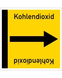 Rohrleitungskennzeichnung viereckig Kohlendioxid | Aufkleber · Magnetschild · Aluminiumschild