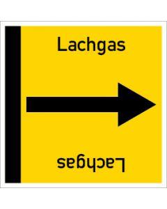 Rohrleitungskennzeichnung viereckig Lachgas | Aufkleber · Magnetschild · Aluminiumschild