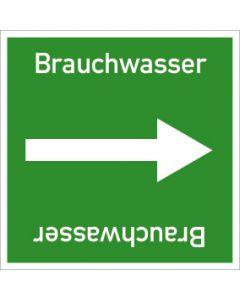 Rohrleitungskennzeichnung viereckig Brauchwasser | Aufkleber · Magnetschild · Aluminiumschild