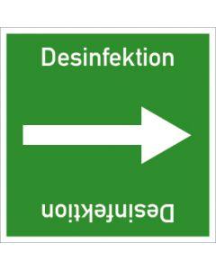 Rohrleitungskennzeichnung viereckig Desinfektion | Aufkleber · Magnetschild · Aluminiumschild