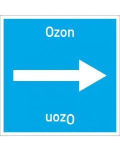 Rohrleitungskennzeichnung viereckig Ozon | Aufkleber · Magnetschild · Aluminiumschild