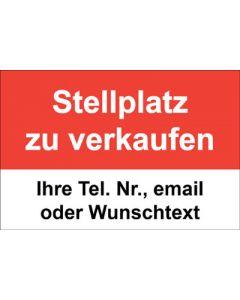 Immobilienschild Stellplatz zu verkaufen · Aufkleber | Schild | Plane
