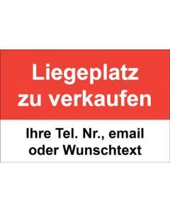 Immobilienschild Liegeplatz zu verkaufen · Aufkleber | Schild | Plane