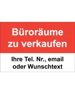 Immobilienschild Büroräume zu verkaufen · Aufkleber | Schild | Plane