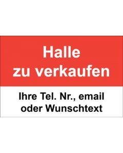 Immobilienschild Halle zu verkaufen · Aufkleber | Schild | Plane