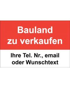Immobilienschild Bauland zu verkaufen · Aufkleber | Schild | Plane