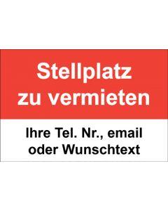 Immobilienschild Stellplatz zu vermieten · Aufkleber | Schild | Plane