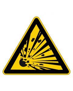 Warnzeichen · Aufkleber | Schild | Magnetschild | Fußbodenaufkleber · Warnung vor explosionsgefährlichen Stoffen