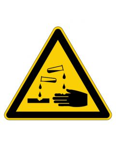 Warnzeichen · Aufkleber | Schild | Magnetschild | Fußbodenaufkleber · Warnung vor ätzenden Stoffen