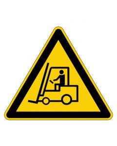 Warnzeichen · Aufkleber | Schild | Magnetschild | Fußbodenaufkleber · Warnung vor Flurförderzeugen