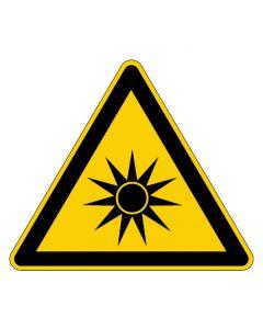 Warnzeichen · Aufkleber | Schild | Magnetschild | Fußbodenaufkleber · Warnung vor optischer Strahlung